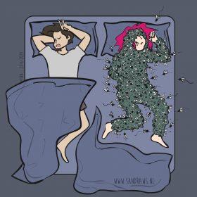 muggen aanval illustratie