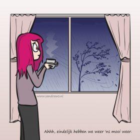 fijn weer - illustratie
