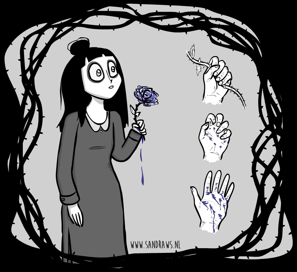 kty rose illustratie