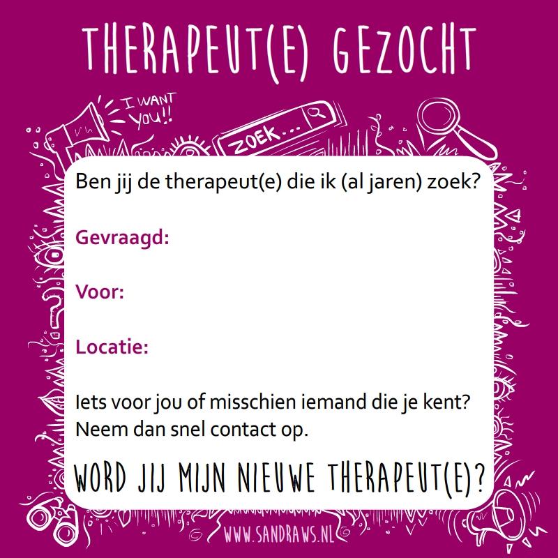 therapeut gezocht - lege advertentie