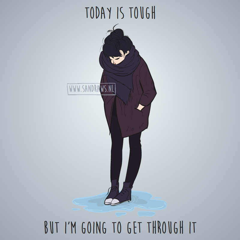 today is tough - illustration