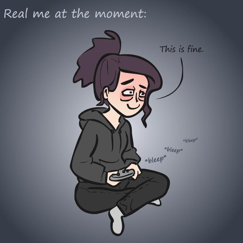 gamer girl - illustratie