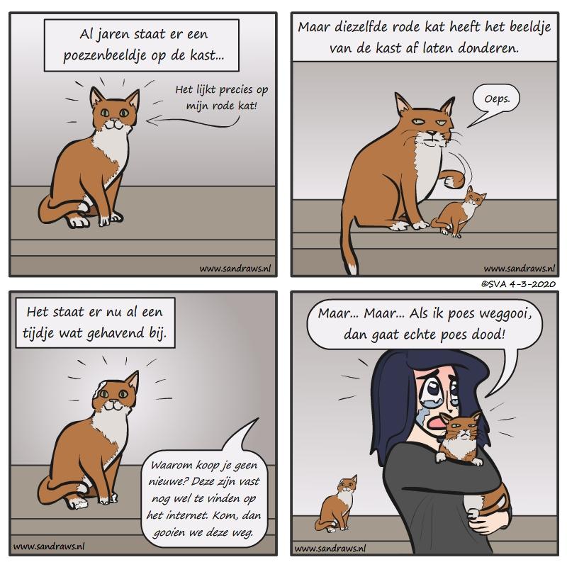 Het poezenbeeldje - comic