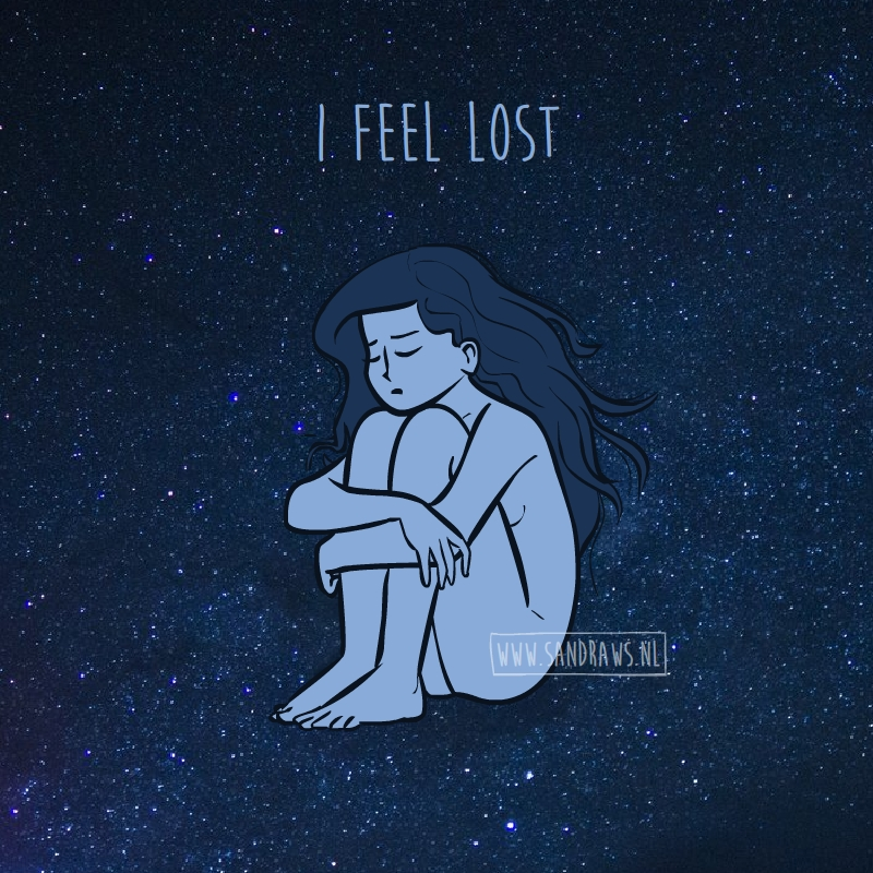I feel lost - illustration