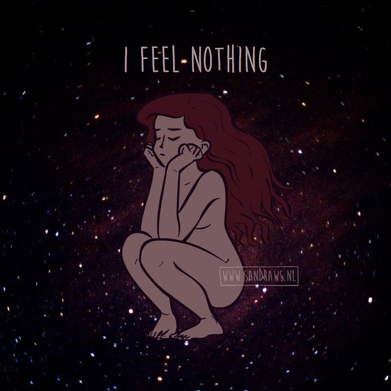 I feel nothing - illustration