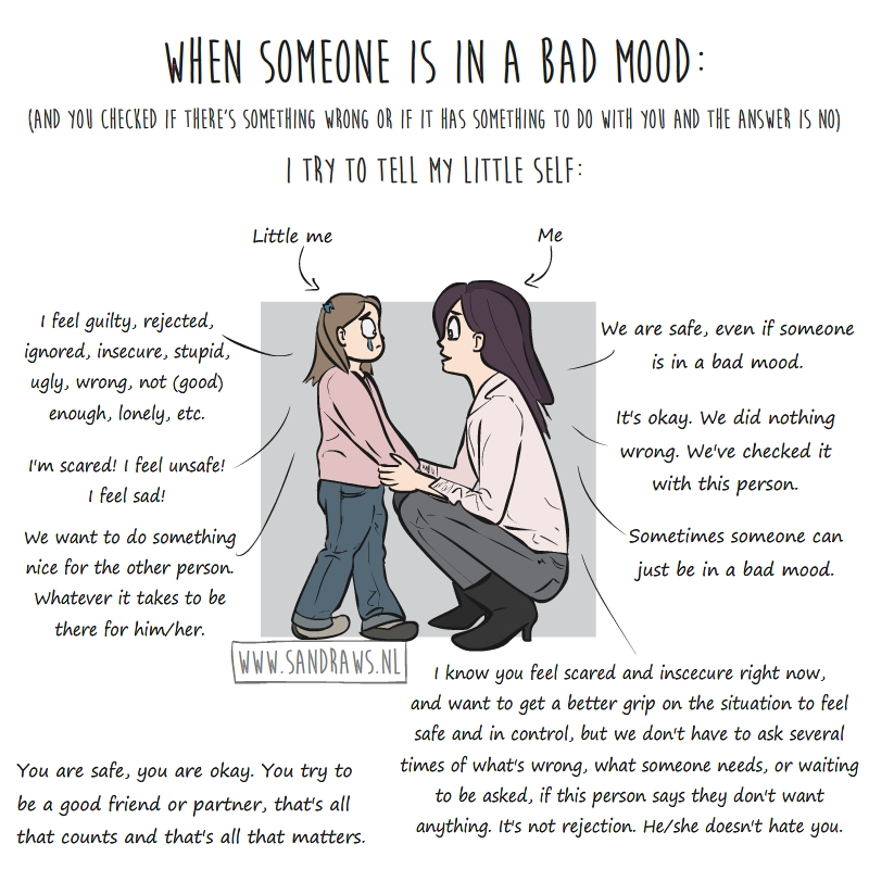 xplaining bad mood triggers - illustration