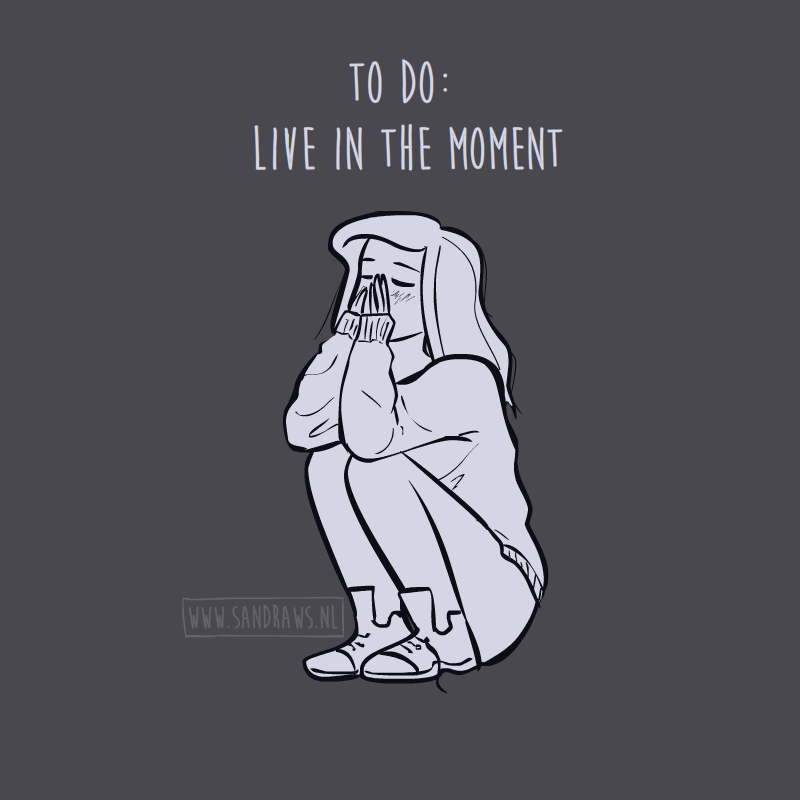 live in the moment - illustratie