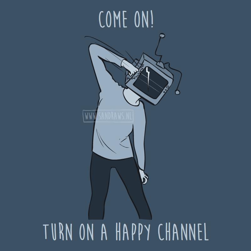broken tv head - illustration