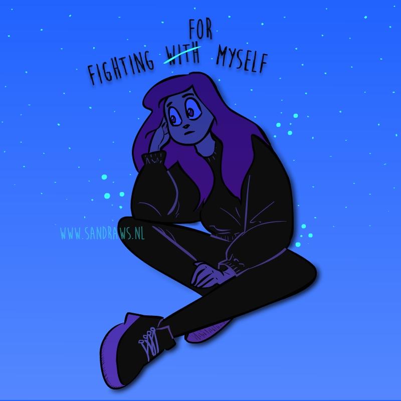 fighting for myself - illustratie