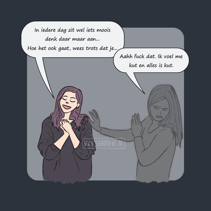 positief blijven - ga toch weg - comic