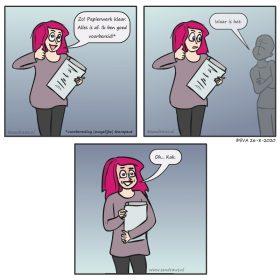 voorbereiden -comic