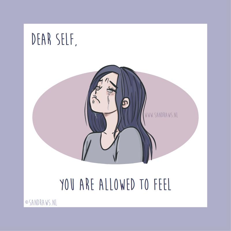 Dear self - illustration