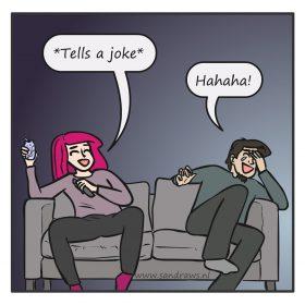 telling joke - comic