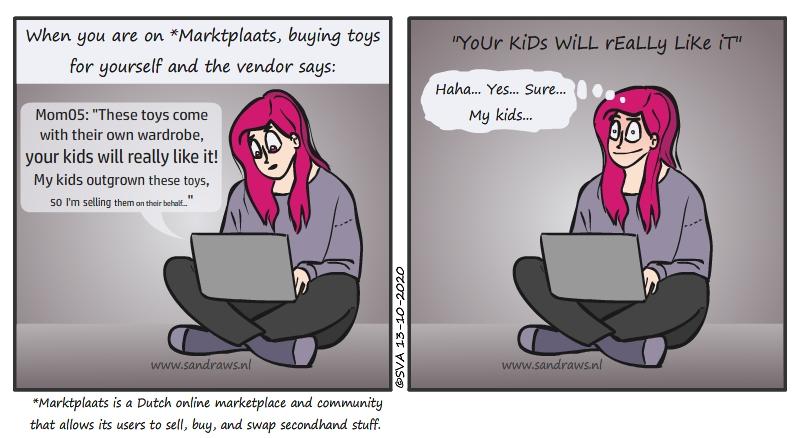 buying toys - comic