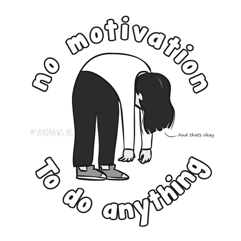 no motivation - illustration