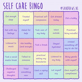self care bingo