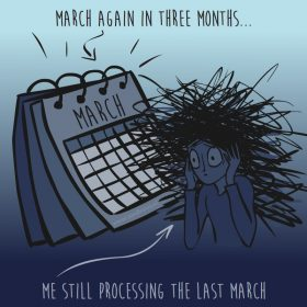 March again - illustration