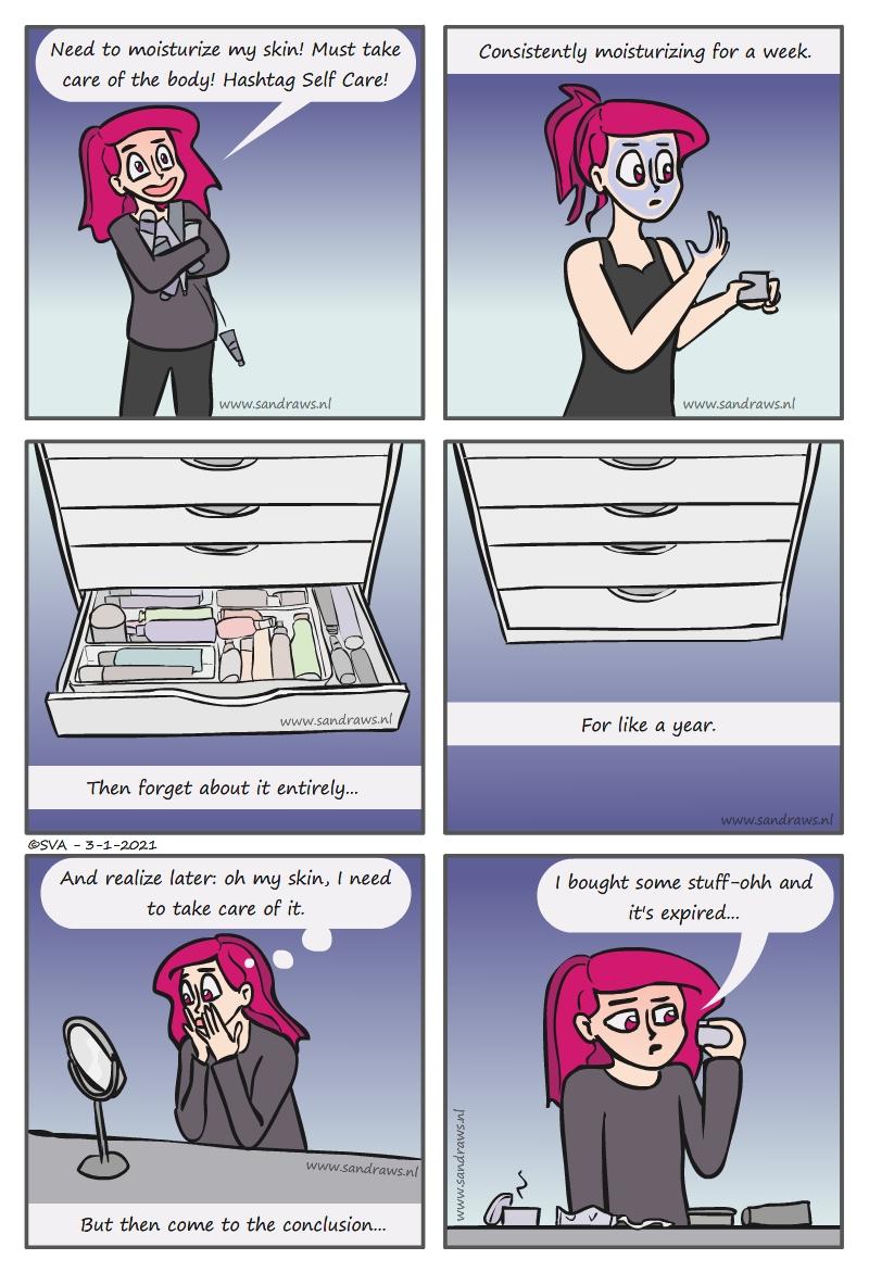 moisturizers - comic