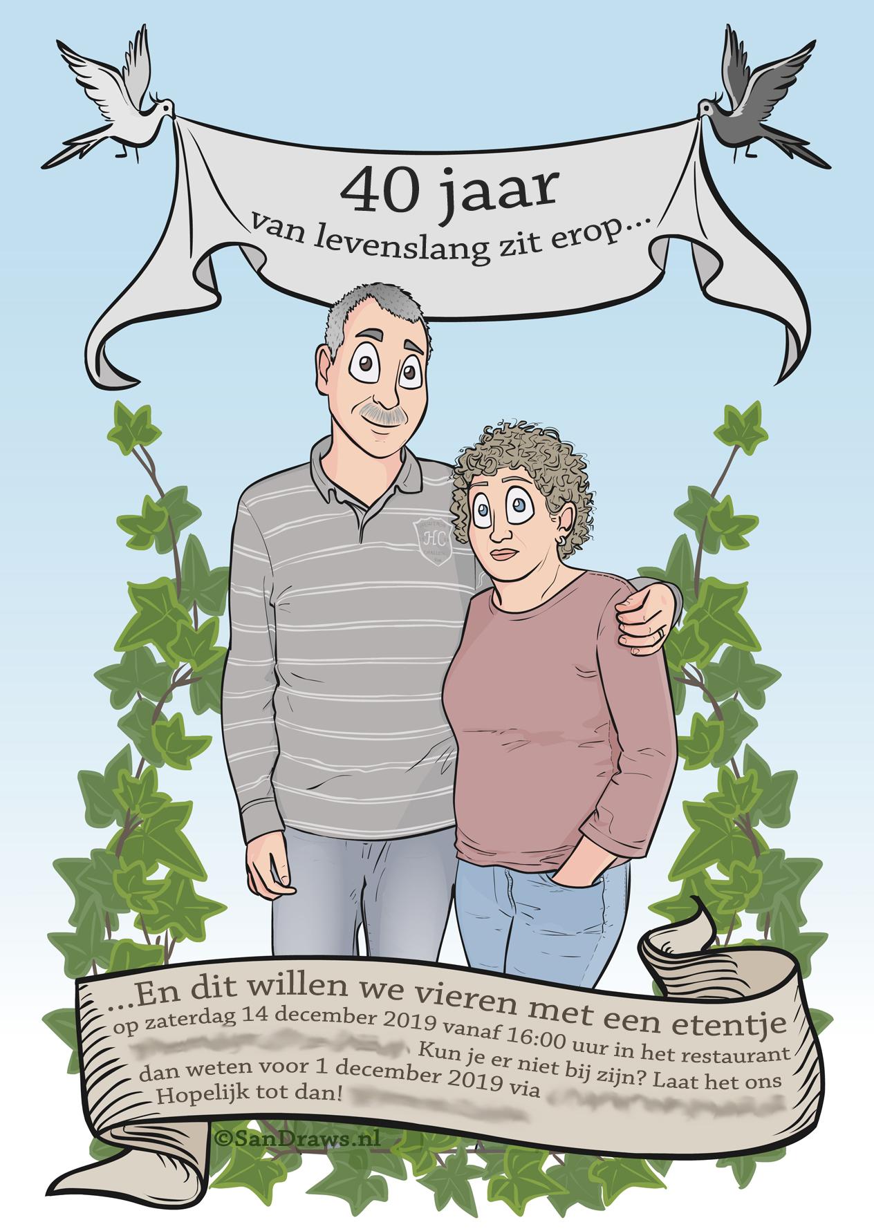 Kaart 40 jaar getrouwd