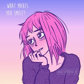 what makes you smile - illustration