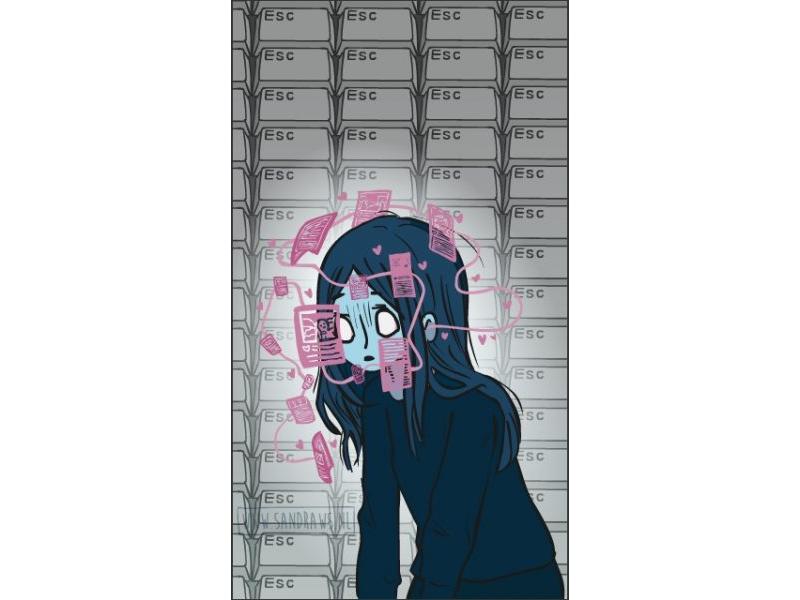 FOMO achtergrond telefoon